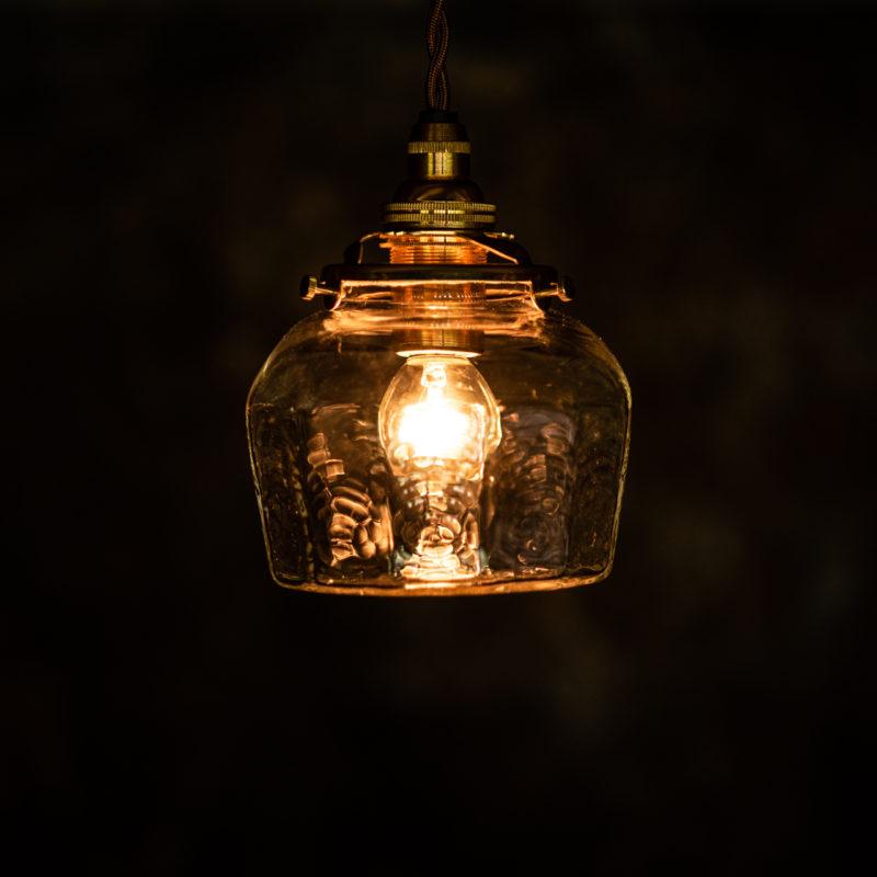 やわい屋 十二角平瓶 L23 照明オン